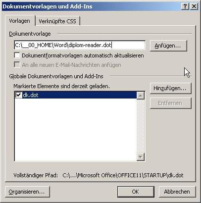 Dokumentvorlage (*.dotx) | Diplom-Reader | Holger Matthes