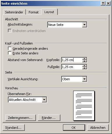 Kopf- und Fußzeile | Diplom-Reader | Holger Matthes