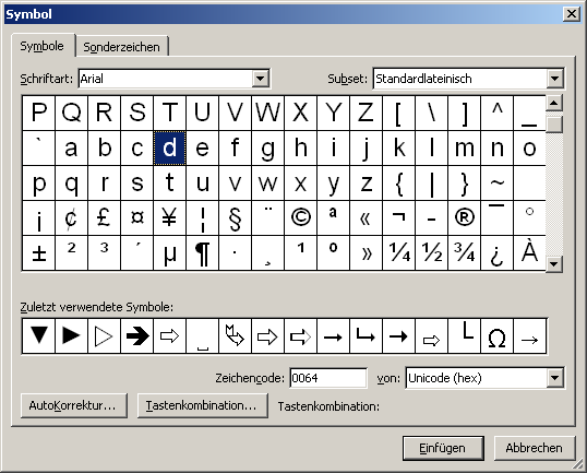 how to add symbols to word