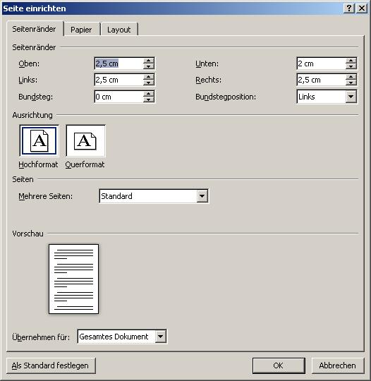 Seitenlayout | Diplom-Reader | Holger Matthes
